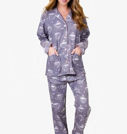 PJ Salvage PJ Salvage Coffee Time Flannel PJ Set