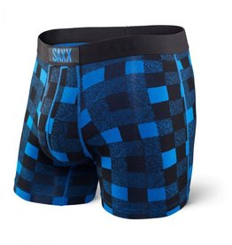 Saxx Saxx Vibe Boxer Modern Fit - Royal Lumberjack Plaid