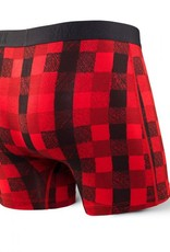 Saxx Saxx Vibe Boxer Modern Fit - Red Lumberjack Plaid
