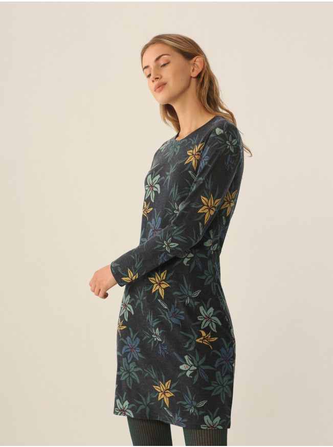 Nice Things Nice Things Liliums Print Dress