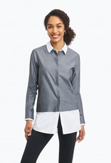 Foxcroft Foxcroft Colourblock Tunic Blouse