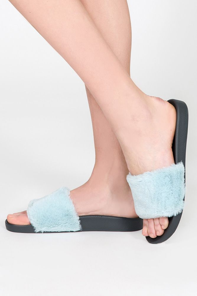 PJ Salvage PJ Salvage Fur Slides