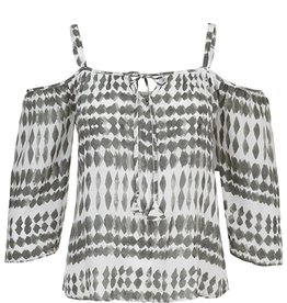 Tribal Tribal Cold Shoulder Blouse