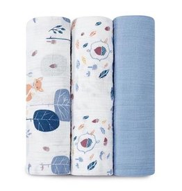 Aden + Anais aden + anais into the woods organic swaddle 3pk