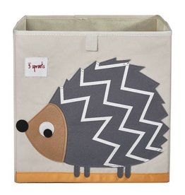3 Sprouts 3 sprouts storage box - grey hedgehog
