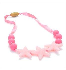 Chewbeads juniorbeads broadway silicone necklace - bubblegum (glow in the dark)