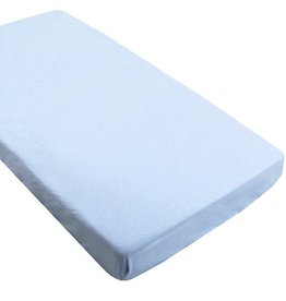 Kushies Baby kushies baby flannel fitted crib sheet blue