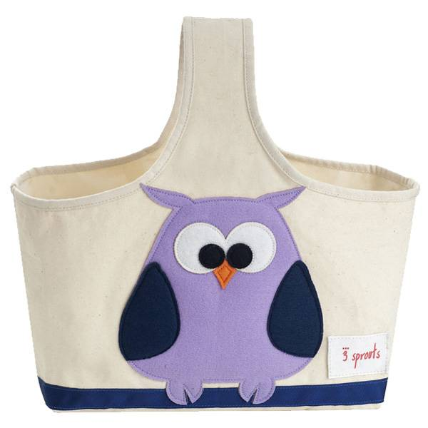 3 Sprouts 3 sprouts caddy - purple owl