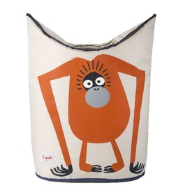 3 Sprouts 3 sprouts laundry hamper -  orange organgutan