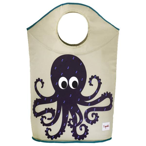 3 Sprouts 3 sprouts laundry hamper - blue octopus