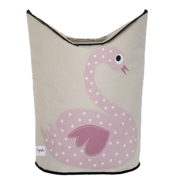 3 Sprouts 3 sprouts laundry hamper - pink swan