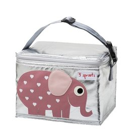 3 Sprouts 3 sprouts lunch bag - pink elephant