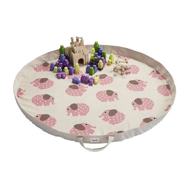 3 Sprouts 3 sprouts play mat bag - pink elephant