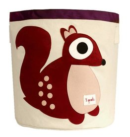 3 Sprouts 3 sprouts storage bin - berry squirrel