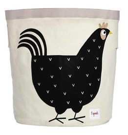 3 Sprouts 3 sprouts storage bin - black hen