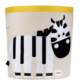 3 Sprouts 3 sprouts storage bin - black/white zebra