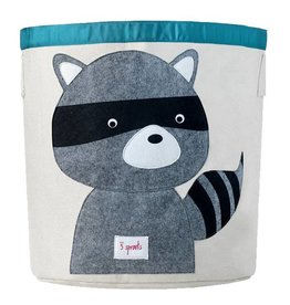 3 Sprouts 3 sprouts storage bin - grey raccoon