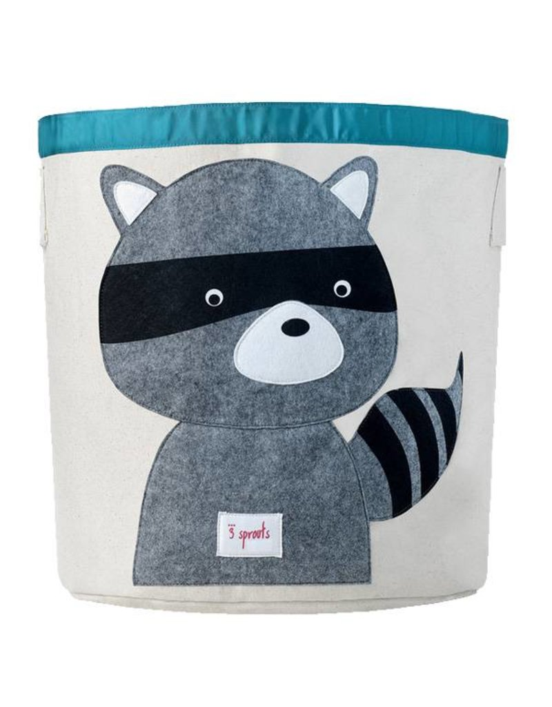sprouts storage bin  grey raccoon at baby charlotte  baby  -  sprouts  sprouts storage bin  grey raccoon