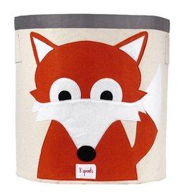 3 Sprouts 3 sprouts storage bin - orange fox
