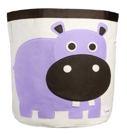 3 Sprouts 3 sprouts storage bin - purple hippo