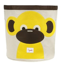 3 Sprouts 3 sprouts storage bin - yellow monkey