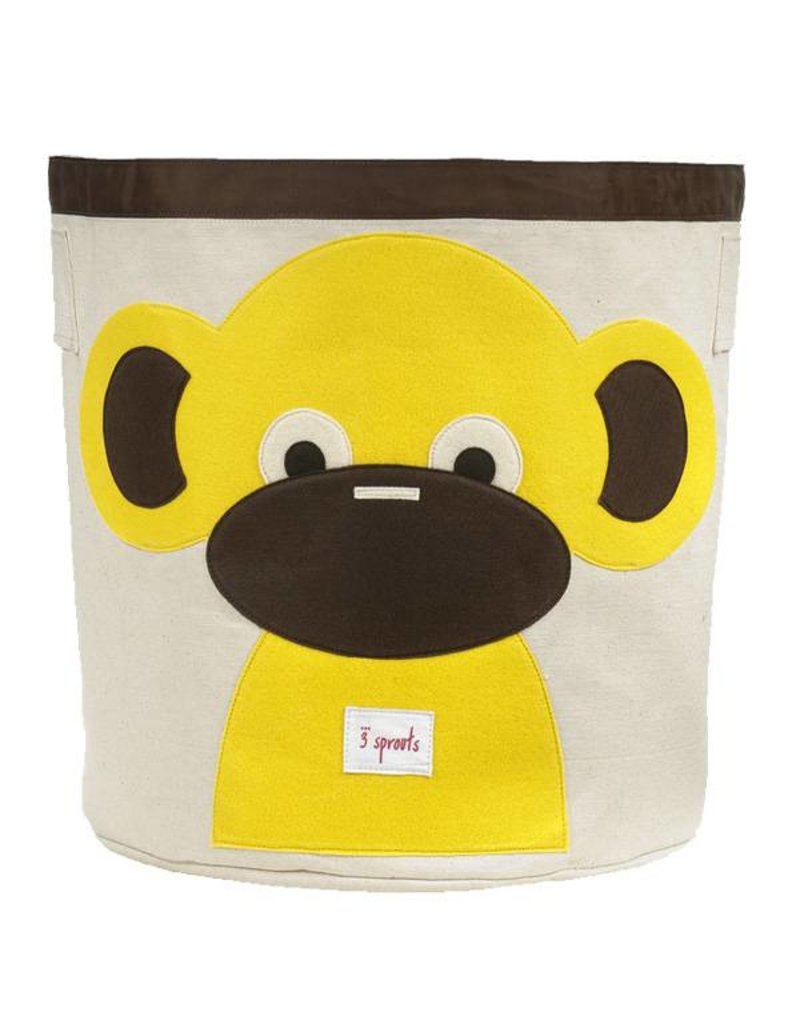 sprouts storage bin  yellow monkey at baby charlotte  baby  -  sprouts  sprouts storage bin  yellow monkey