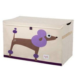3 Sprouts 3 sprouts toy chest - purple poodle