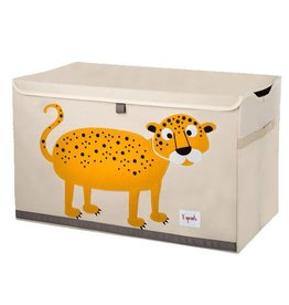 3 Sprouts 3 sprouts toy chest - yellow leopard