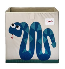 3 Sprouts 3 sprouts storage box - blue snake