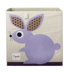 3 Sprouts 3 sprouts storage box - purple rabbit