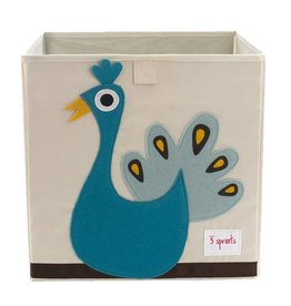 3 Sprouts 3 sprouts storage box - blue peacock