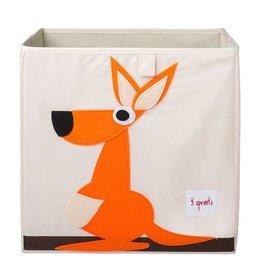 3 Sprouts 3 sprouts storage box - orange kangaroo