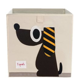 3 Sprouts 3 sprouts storage box - brown dog