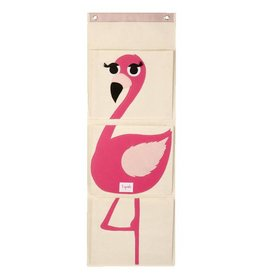 3 Sprouts 3 sprouts wall organizer - pink flamingo