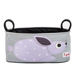 3 Sprouts 3 sprouts stroller organizer - purple rabbit
