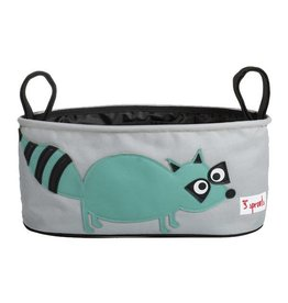 3 Sprouts 3 sprouts stroller organizer - teal raccoon