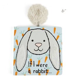 Jellycat jellycat if i were a rabbit board book - grey