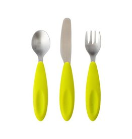 Boon boon flatware utensils 3pk - green