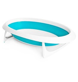 Boon boon naked 2 position collapsible baby bathtub - blue