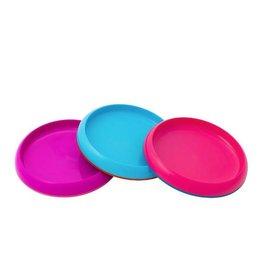 Boon boon plate edgeless nonskid plate 3pk - girl