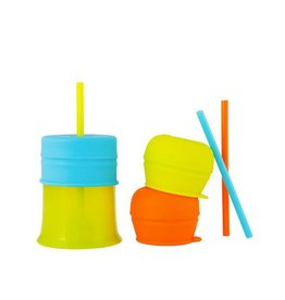 Boon boon snug straws with cup - boy multi