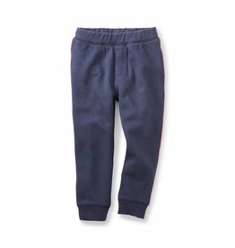 Tea Collection tea collection side stripe fleece joggers - indigo