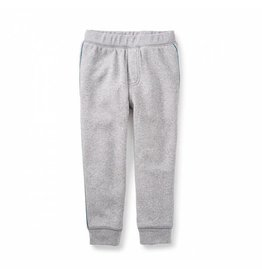 Tea Collection tea collection side stripe fleece joggers - med heather grey