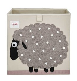 3 Sprouts 3 sprouts storage box - beige sheep