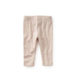 Tea Collection tea collection striped capri baby leggings - peach blush