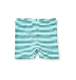 Tea Collection tea collection striped somersault shorts - mermaid