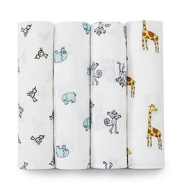 Aden + Anais aden + anais jungle jam classic swaddle 4pk