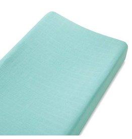 Aden + Anais aden + anais azure aqua silky soft changing pad cover