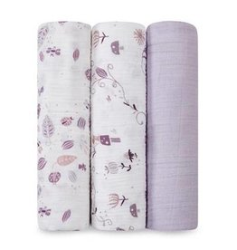 Aden + Anais aden + anais once upon a time organic swaddle 3pk
