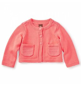 Tea Collection tea collection bella baby cardigan - guava